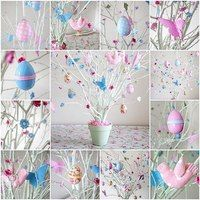 You do not necessarily have to have a real tree for making your Easter special. Use these easy Easter tree decoration ideas to add an extra special touch to your decor. Happy Easter, Easter Bunny, Easter Eggs, Easter Tree Decorations, Easter Wreaths, Easter Decor, Easter Ideas, Easter Projects, Easter Crafts