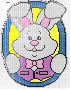 EASTER BUNNY WH by DAISY