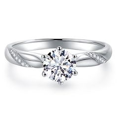 Engagement & Wedding Jewelry & Watches Exquisite Round Pave Set Cubic Zirconia Sterling Silver Ring Size 8 Brilliant