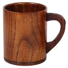 Practical Wooden Cup Primitive Handmade Natural Wood Coffee Tea Beer Juice Milk Mug Pattern:D