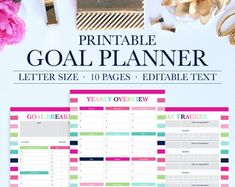 Goal Planning  Yearly Goal Planner  Monthly Goal Planner  Goal