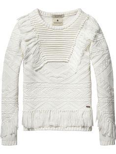Pullover jacquard ikat|Pullover|Abbigliamento Bambina di Scotch & Soda