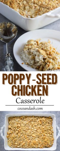 This poppy seed chicken casserole is a family favorite for dinner! So easy and so full of flavor!!
