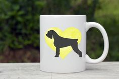Schnauzer Custom Dog Coffee Mug. Personalized Watercolor Dog