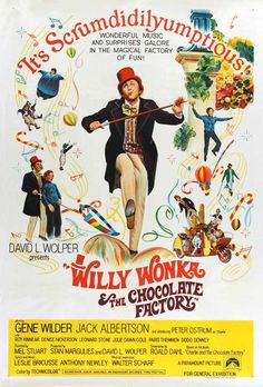 Willy Wonka and the Chocolate Factory Book | Picture of Willy Wonka & the Chocolate Factory Willy Wonka, Old Movies, Vintage Movies, Great Movies, Vintage Posters, Awesome Movies, Roald Dahl, Wonka Chocolate Factory, Free Willy