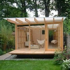 Love this - multipurpose garden office/hobby room, yoga studio, guest house, endless possibilities!