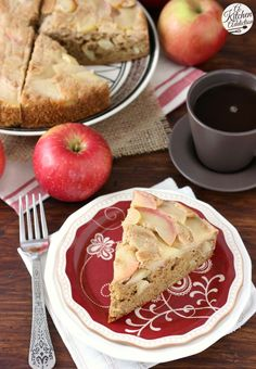 Honey Apple Upside Down Cake made with @tatelylesugarus #ad #TLHoneyGranulesCG