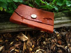 Buffalo Hide & Antler Leather Journal  Soft by Elewmompittseh