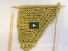 DROPS Knitting Tutorial: How to make increases and decreases (Drops no. on VimeoIn this video we show how you knit the increases and decreases for the Beside You shawl in DROPS Cast on 3 sts on circular and K 1 row. Knitting Paterns, Baby Hats Knitting, Knitting Videos, Crochet Videos, Easy Knitting, Knitting Designs, Knitting Stitches, Knitting Projects, Knitting Increase