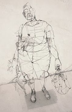 David Oliveira <-- Lisbon) Degree in Sculpture and a postgraduate degree in Artistic Anatomy at the School of Fine Arts of Lisbon Sculpture Head, Wire Sculptures, Wire Drawing, Art Thou, Contemporary Sculpture, Wire Art, Gravure, Art Sketchbook, Oeuvre D'art