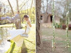 Outdoor wedding double swing! How romantic! +52 more Outdoor Summer Wedding Ideas | HappyWedd.com