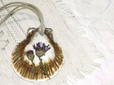 Sea shell necklaceMermaid jewelryPressed by KatrinJewelryChest
