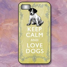 iPhone 4/4S or iPhone 5/5S Case - Keep Calm and Love Dogs - Plastic, Rubber or Tough Case