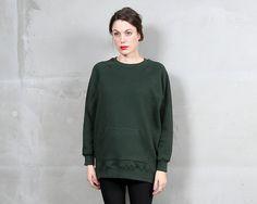 Oversized Sweatshirt Dark Grey | Custom Gray Tunic Oversized ...