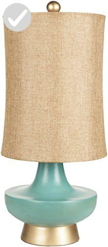 Surya LMP-1039 Table Lamp, 27 by 12.5 by 12.5-Inch, Aged Turquoise - Improve your home (*Amazon Partner-Link)
