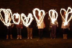 Sparklers for sweet 16 picture!!