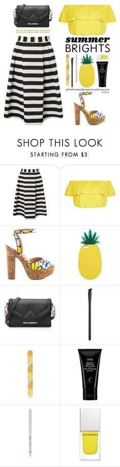 """""""Summer Brights"""" by palmtreesandpompoms ❤ liked on Polyvore featuring Lipsy, New Look, Lust For Life, Miss Selfridge, Karl Lagerfeld, NARS Cosmetics, Topshop, Oribe, Givenchy and summebrights"""