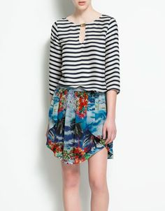 STRIPED TOP WITH APPLIQUÉ - Shirts - Woman - ZARA Canada $49.90