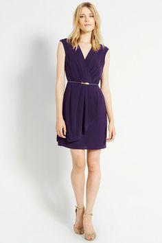 Plain Crepe Wrap Dress