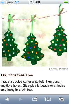 Tree suncatcher with beads