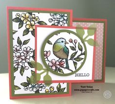 This was an easy card to make. Z Cards, Fun Fold Cards, Bird Cards, Folded Cards, Your Cards, Craft Cards, Card Making Inspiration, Making Ideas, Boxed Christmas Cards