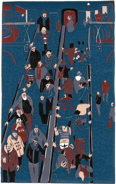 Graham Firth lino print - escalator-print-part-17.jpg (631×1000)