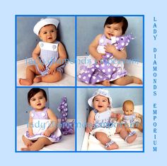 Simplicity 1378 Baby Boys & Girls Romper Sundress Panties Hat Sandals Stuffed Toy Doll Clothes sz XS to L (1-18 mo) Sewing Pattern Uncut FF by ladydiamond46 on Etsy