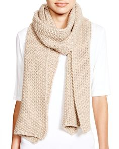 C by Bloomingdale's Popcorn Knit Scarf