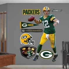 $99.99 Aaron Rodgers No. 12 Green Bay Packers Fathead