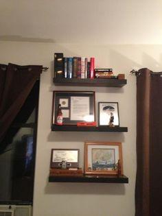 New in Box Wenge Veneer Shelves