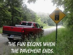 The fun begins when the pavement ends