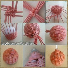 Recycled Paper Crafts, Rope Crafts, Newspaper Basket, Newspaper Crafts, Paper Weaving, Weaving Art, Basket Weaving Patterns, Willow Weaving, Basket Crafts