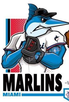 Sports Art, Sports Logos, Sports Teams, Mlb, Baseball Wall, Miami Marlins, Art Logo, Tampa Bay, Disney Characters