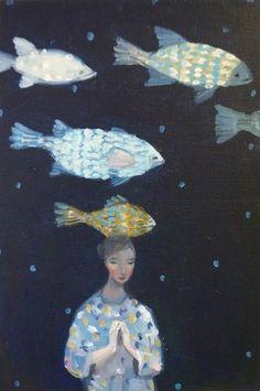 "Kristin Vestgard, ""New Chapter"",oil 30 x 20cm, £1250. Avaiable from:http://www.cornwallcontemporary.com/exhibition/kristin-vestgard/"