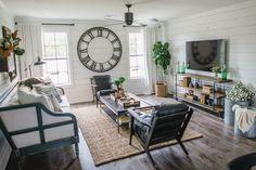 The Barndominium | Season 3 | Fixer Upper | Magnolia Market | Living Room | Chip & Joanna Gaines | Waco, TX