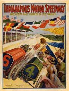 Vintage Indy 500 Poster