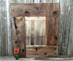 barn wood projects | Rustic Country Barn Wood LARGE Natural WOOD FRAMED MIRROR www ...