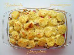 Mieszalnia smaków: Zapiekanka ziemniaczana z kurczakiem Cheese Fruit, Macaroni And Cheese, Food To Make, Cauliflower, Dips, Lunch, Dinner, Vegetables, Cooking