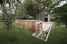 This is an underground home extension that exemplifies innovation. And the cutest part? It's called Atelier Pam & Jenny.