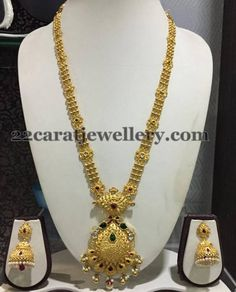 Jewellery Designs: Simple 50 Grams Antique Long Chain