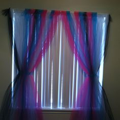 Curtains made from tulle, made these for Ashleigh's room :)