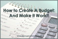 """""""How To Create (and Stick to) A Budget!"""" It is the 'stinking to it' part that can be so hard. - MilitaryAvenue.com"""