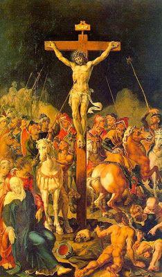 Iconografia e Simbologia na Arte Cristã: Iconografia dos Mistérios de Jesus Cristo  Maerten van Heemskerck, Golgotha, ca. 1540, Sao Petersburg, Hermitage.
