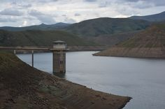 Water intake tower in the Katse Dam. South Africa, Tower, Mountains, Country, Nature, Travel, Viajes, Lathe, Rural Area
