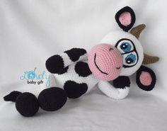 Vaca Amigurumi ganchillo patrón peluche animales por LovelyBabyGift