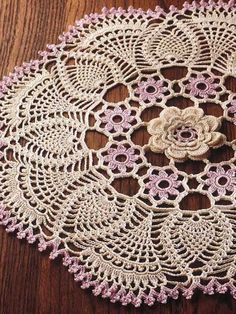 Crochet - Home & Kitchen - Doily - Pineapple Patterns Charming old-world doily is made with size 10 thread and size 7 steel hook. Crochet Doily Rug, Crochet Doily Patterns, Crochet Home, Thread Crochet, Irish Crochet, Crochet Yarn, Crochet Flowers, Rag Rug Tutorial, Pineapple Crochet
