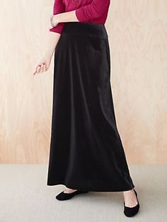 Winter Silks - Stretch Velvet Skirt - U03040