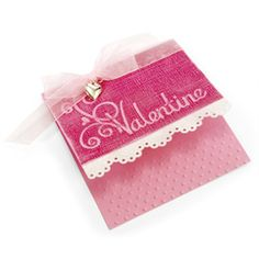 embossed valentine, fast & simple layout for lots of cards