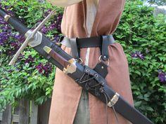 Leather Sword Frog, Belt Hanger - Medieval Renaissance Fair Armor Costume Accessory by FolkOfTheWoodCrafts on Etsy