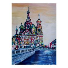St Petersburg With Church Of The Savior On Blood Poster - decor gifts diy home & living cyo giftidea